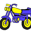 Fast racing bike coloring